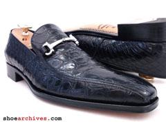 84e9722e0 Ferragamo ALBERT 2 Crocodile Alligator Mens Shoes Loafers Gancio Bit