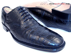 195a75e69 Ferragamo PUNTALA Mens Crocodile Alligator Shoes Puntala  2300. Salvatore  Ferragamo